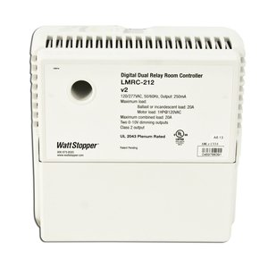 Wattstopper LMRC-212 Dimming Room Controller, 120/277 @ 20A or 347VAC @ 15A