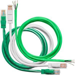 Wattstopper LMRJ-P35 Plenum Rated Local Network Cable, RJ45, Green, 35'