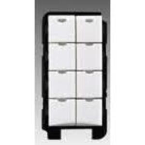 Wattstopper LMSW-108-W Digital Switch, 8 Button, White