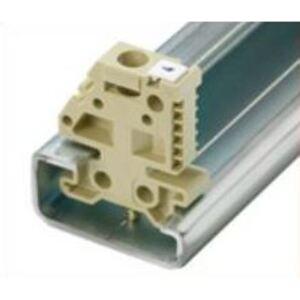 Weidmuller 0206160000 Terminal Block, End Anchor, Screw Down, Beige, 9mm x 27mm