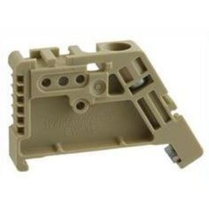 Weidmuller 0383560000 Terminal Block, End Stop, DIN Rail, Beige, Screw Down