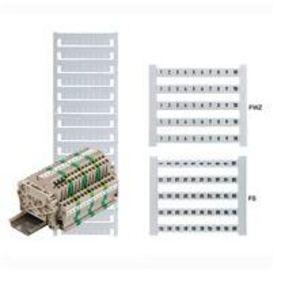 Weidmuller 0473560001 Terminal Block, Dekafix Marker, 5mm x 5mm, White, Vertical