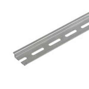 Weidmuller 0514400000 Mounting Rail, 33mm x 15mm x 2m, Gray, Steel, Zinc Plated