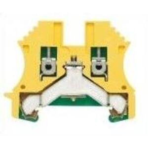 Weidmuller 1010000000 Terminal Block, Green/Yellow, W-Series, PE, 2.5mm, Screw Connection