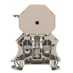 Weidmuller 1014300000 Terminal Block, Dark Beige, W-Series, Fused, 6mm, Screw Connection