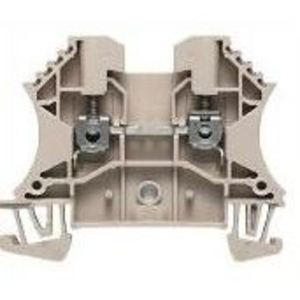 Weidmuller 1020300000 Terminal Block, Feed Through, Dark Beige, 10mm, Screw Connection