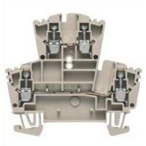 Weidmuller 1021500000 Terminal Block, 2 Tier, 2.5mm, W-Series, Dark Beige, Feed Through