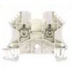 Weidmuller 1039700000 Terminal Block, Feed Through, White, 6mm, Screw Connection