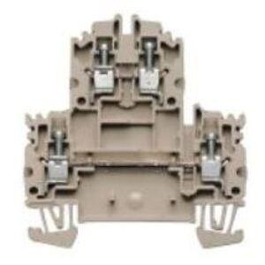 Weidmuller 1041900000 Terminal Block, 2 Tier, 4mm, W-Series, Dark Beige, Feed Through