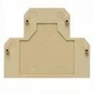Weidmuller 1084000000 Terminal Block, End Plate, Dark Beige, 2.5mm-10mm, Snap-On