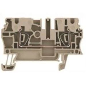 Weidmuller 1608510000 Terminal Block, Feed Through, 2.5mm, Z-Series, Dark Beige