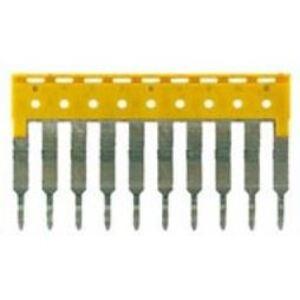 Weidmuller 1608940000 Terminal Block, Cross Connector, Jumper, 10P, 24A, Yellow
