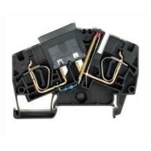 Weidmuller 1814700000 Terminal Block, Fused, 6mm, Black, 36V AC/DC