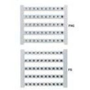 Weidmuller 473460101 Terminal Block, Marker Card, 5 x 5mm, White, Numbers, Horizontal