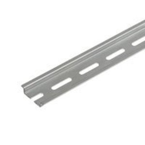 Weidmuller 514400000 Mounting Rail, 33mm x 15mm x 2m, Gray, Steel, Zinc Plated