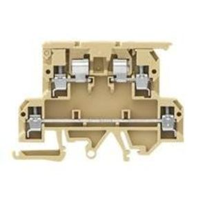 Weidmuller 9503350000 Terminal Block, Fused, Cartridge, 8mm Width, 2 Tier, DIN Rail Mount