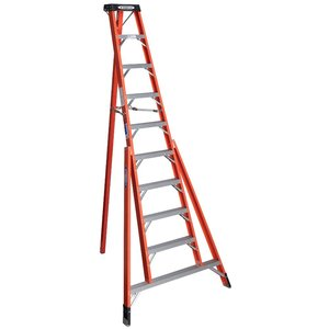 Werner Ladder FTP6210 10' Tripod Step Ladder, Type IA, 300 lbs