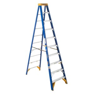 Werner Ladder OBEL10 Job Station Step Ladder, 10', Type IAA, 375 lbs