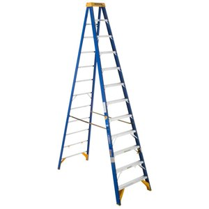 Werner Ladder OBEL12 12' Job Station Step Ladder, Type IAA, 375 lbs