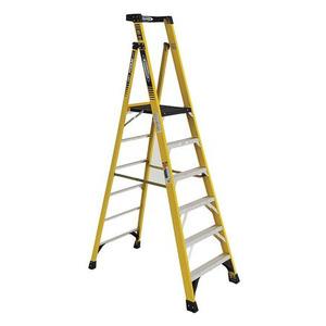 Werner Ladder PD7306 Podium Step Ladder, 6', 375 lbs