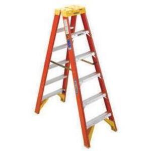 Werner Ladder T6208 8' Twin Step Ladder, 300 lbs