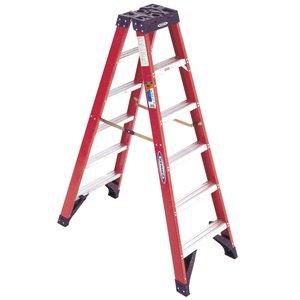 Werner Ladder T6308 8' Twin Step Ladder, 300 lbs