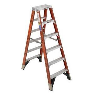Werner Ladder T7406 6' Twin Step Ladder, Type IAA, 375 lbs
