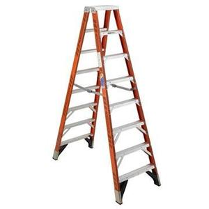 Werner Ladder T7414 Twin Step Ladder, 14', Type IA, 300 lbs