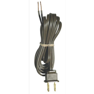 Westinghouse Lighting 2303100 Power Cord, 8', Brown