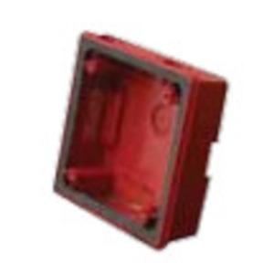 Wheelock WPSBBW Weatherproof Back Box, White, For Fire Alarm Devices, Steel