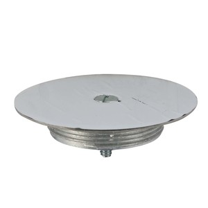 "Wiremold 1043S Blanking Top Plate, Diameter: 3-1/2"", Stainless Steel"
