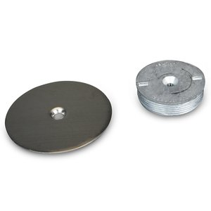 "Wiremold 1045S Blanking Top Plate, Diameter: 3-1/2"". Stainless Steel."