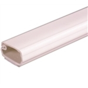 "Wiremold 2800L8 Non-Metallic Surface Raceway, One-Piece, Hinged, 1"" x 8', Ivory"