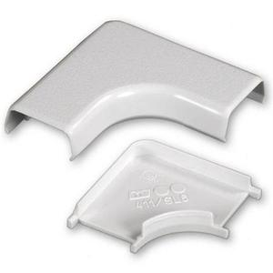 Wiremold 411-WH 90° Flat Elbow / 400 Series Raceway, PVC, White