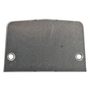 Wiremold 500B Service Box Plate, Metallic, Type: Blank