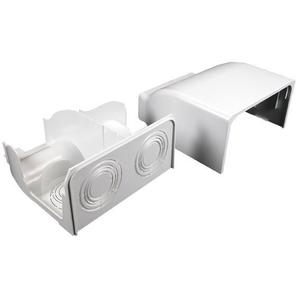Wiremold 5410DFO Radiused Divided Entrance End Cap / 5400 Series Raceway, Ivory