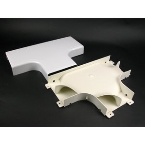 Wiremold 5415FO Radiused Full Capacity Tee, 5400 Series Raceway, PVC, Ivory