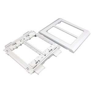 Wiremold 5450 Device Bracket, 2-Gang, 5400 Series Raceway, Ivory
