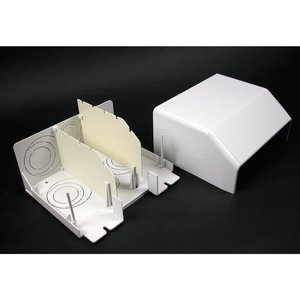 """Wiremold 5510D Entrance End Fitting / 5500 Series Raceway, 3/4"""" - 2"""", Ivory"""