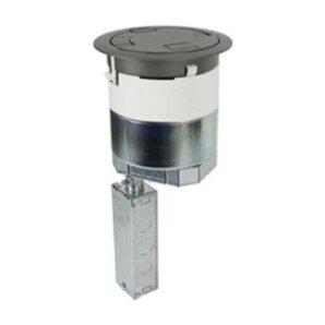 "Wiremold 6ATC2PNK Poke-Thru, Recessed, Nickel, Diameter: 6"", Depth: 16-1/4"