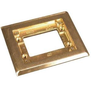 """Wiremold 817C Cover Plate Flange, 1-Gang, Size: 4-3/4"""" x 5-3/4"""", Brass"""