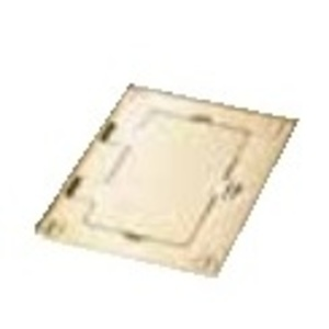 Wiremold 828DPGFITC Cover Plate Flange, 1-Gang, Cover Type: Flip, Brass