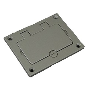 """Wiremold 828GFITCAL-GY GFI Cover Plate, 3-1/4"""" x 4-5/32"""", Flip Lid, Aluminum"""