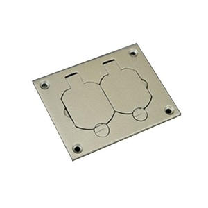 Wiremold 828R-TCAL-NK Floor Box Cover, 1-Gang, Metallic, Device Type: Duplex Receptacle