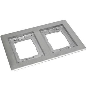 Wiremold 828TCAL Cover Plate Flange, Square, 2-Gang, Aluminum