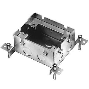 "Wiremold 880M1 Adjustable Floor Box, 1-Gang, Depth: 2-15/32"", Cast Iron"