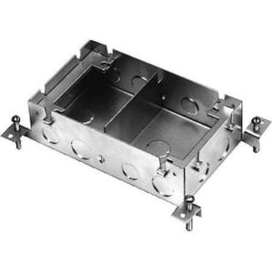"Wiremold 880M2 Adjustable Floor Box, 2-Gang, Depth: 2-15/32"", Cast Iron"