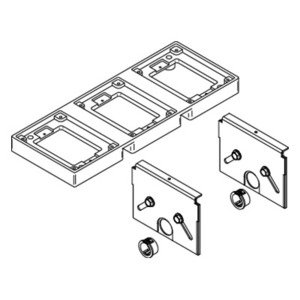 """Wiremold 880M3 Adjustable Floor Box, 3-Gang, Depth: 2-15/32"""", Steel"""