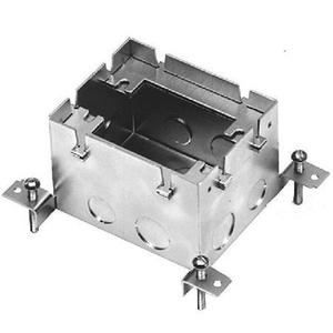 "Wiremold 880S1 Rectangular Floor Box, 1-Gang, Depth: 3-15/32"", Steel"