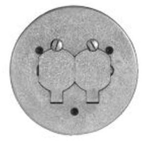 "Wiremold 895P-AL Round Duplex Receptacle Cover, 5-1/2"" Diameter, Non-Metallic"